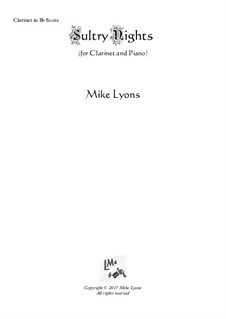 Sultry Nights: para clarinete e piano by Mike Lyons