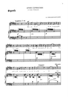 Servilia: Aria of Servilia by Nikolai Rimsky-Korsakov