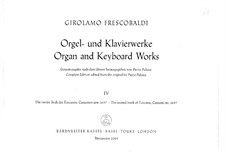 Organ and Keyboard Works: livros IV by Girolamo Frescobaldi