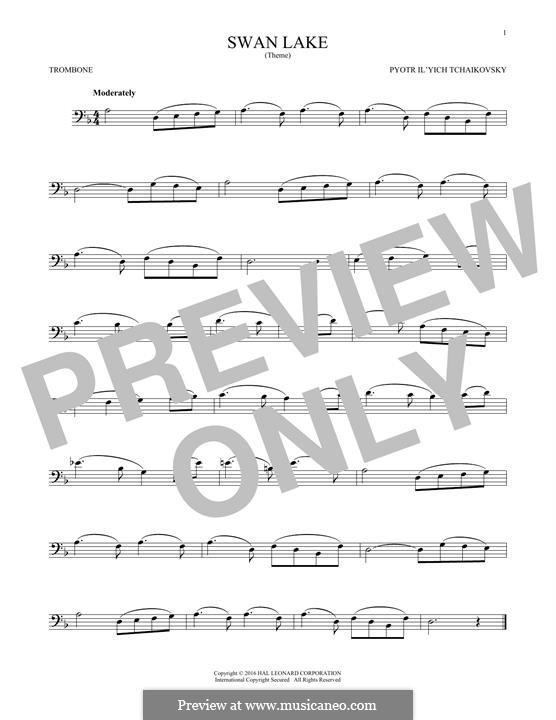 No.14 Scène: Arrangement for trombone (Theme) by Pyotr Tchaikovsky