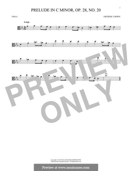 No.20 in C Minor: para viola by Frédéric Chopin