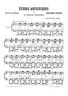Études artistiques, Op.42: Complete score by Benjamin Godard