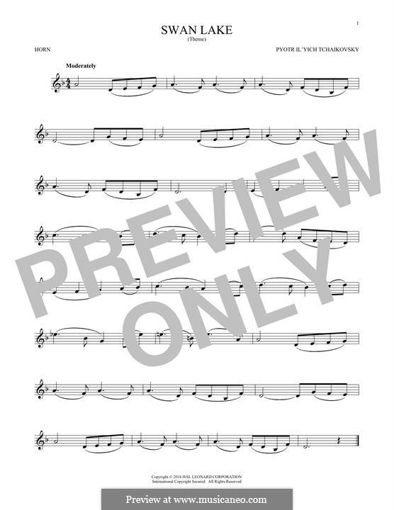 No.14 Scène: Arrangement for horn (Theme) by Pyotr Tchaikovsky