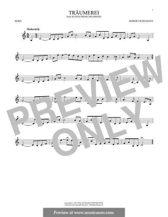 No.7 Träumerei (Dreaming): For horn by Robert Schumann