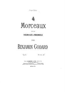 Four Pieces for String Trio, Op.5: Parte em violino by Benjamin Godard