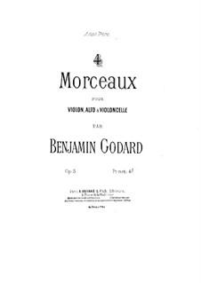 Four Pieces for String Trio, Op.5: parte viola by Benjamin Godard