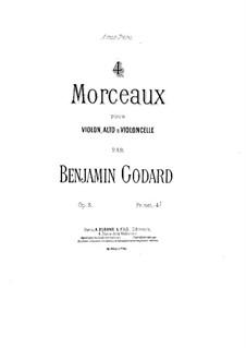 Four Pieces for String Trio, Op.5: parte violoncelo by Benjamin Godard