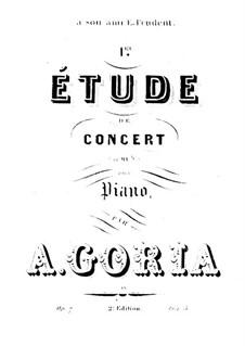 Etude de concert in E Flat Major, Op.7: Etude de concert in E Flat Major by Alexandre Édouard Goria