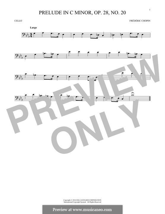 No.20 in C Minor: para violoncelo by Frédéric Chopin