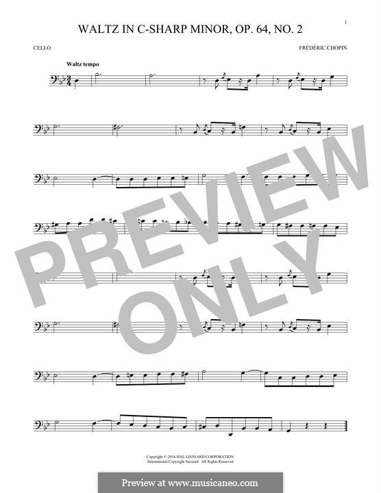 No.2 in C Sharp Minor: para violoncelo by Frédéric Chopin