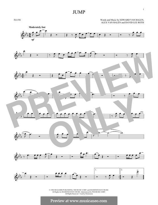 Jump (Van Halen): para flauta by Alex Van Halen, David Lee Roth, Edward Van Halen, Michael Anthony
