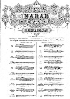 Le nabab: Pour toi mon estime est grande by Fromental Halevy