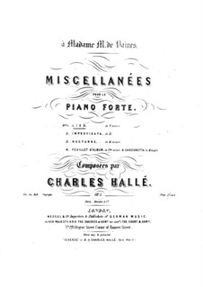 Miscellanées, Op.5 No.1-2: Miscellanées by Charles Hallé