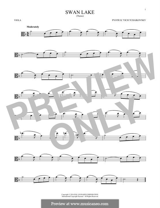 No.14 Scène: Arrangement for viola (Theme) by Pyotr Tchaikovsky