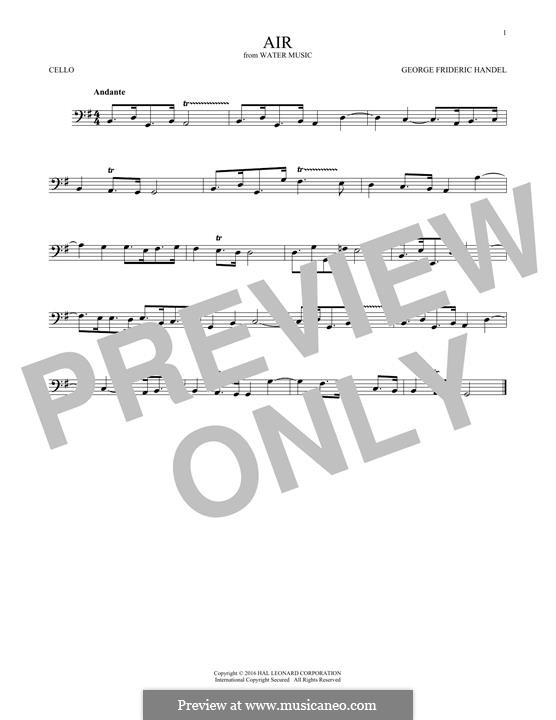 Suite No.1 in F Major – Aria, HWV 348: para violoncelo by Georg Friedrich Händel