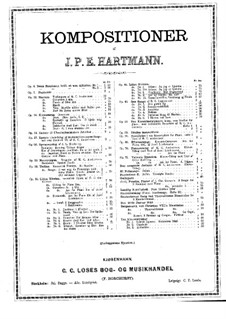 Little Kirsten, Op.44: No.8 Vexelsang, for Voice and Piano by Johan Peter Emilius Hartmann