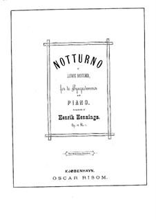 Nocturne, Op.15 No.1: noturno by Henrik Hennings
