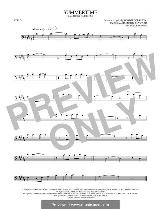 Summertime: para violoncelo by George Gershwin