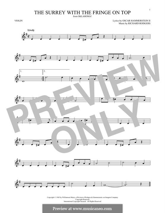 The Surrey with the Fringe on Top: para violino by Richard Rodgers