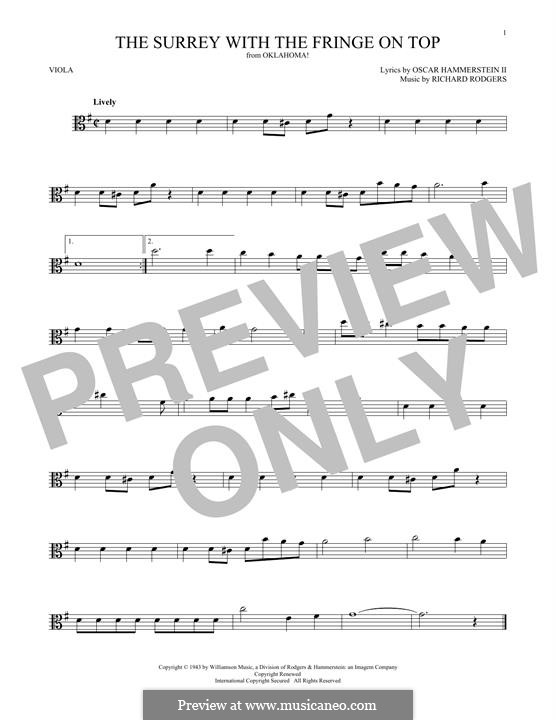 The Surrey with the Fringe on Top: para viola by Richard Rodgers