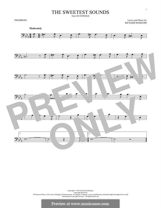 The Sweetest Sounds (from No Strings): para trombone by Richard Rodgers