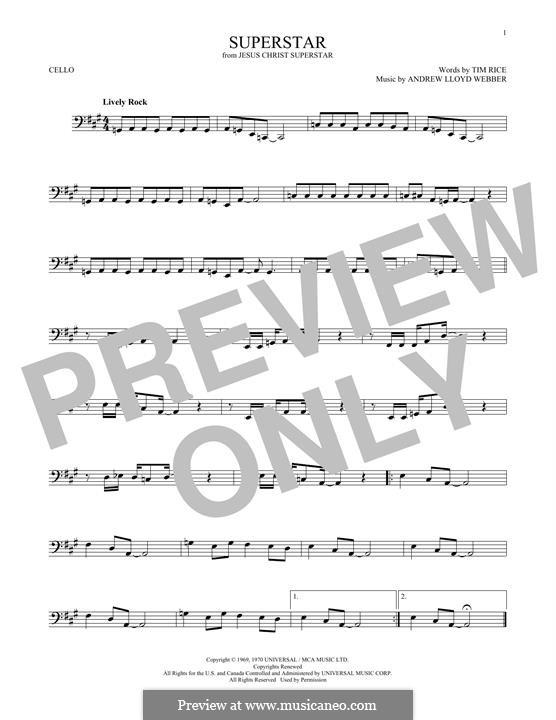 Superstar: para violoncelo by Andrew Lloyd Webber