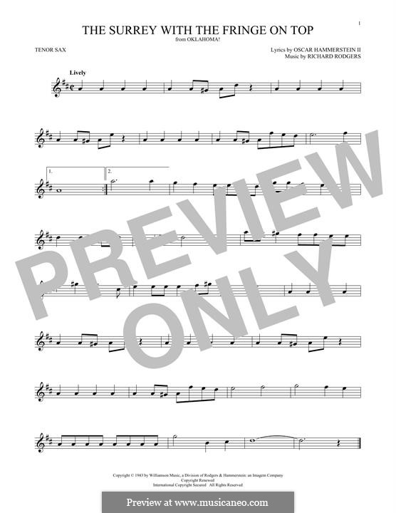The Surrey with the Fringe on Top: para saxofone tenor by Richard Rodgers