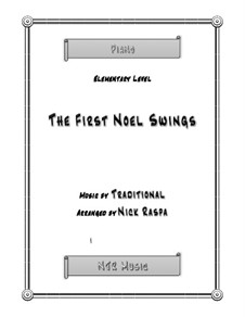 The First Nowell (The First Noël), for Piano: Elementary piano by folklore