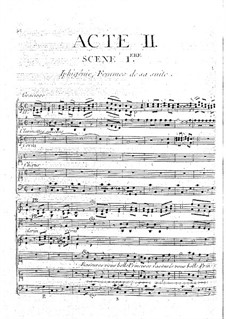 Iphigenia in Aulis, Wq.40: Ato II by Christoph Willibald Gluck