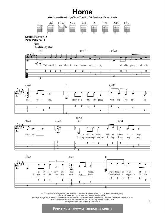 Home: Para guitarra com guia by Chris Tomlin, Ed Cash, Scott Cash