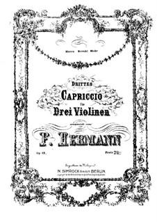 Capriccio No.3 for Three Violins, Op.13: violinos parte III by Friedrich Hermann