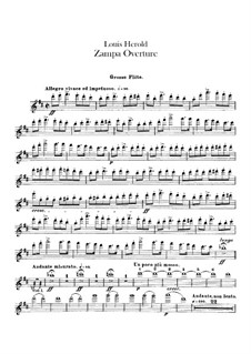 Zampa, ou La fiancée de marbre (Zampa, or the Marble Bride): abertura - parte flautas by Ferdinand Herold