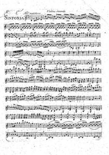 Symphony No.1 in B Flat Major: violino parte II by François Joseph Gossec