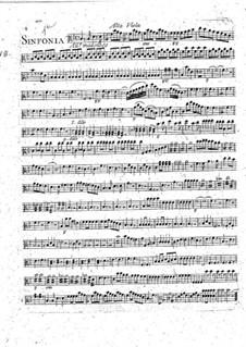 Symphony No.1 in B Flat Major: parte viola by François Joseph Gossec