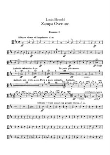 Zampa, ou La fiancée de marbre (Zampa, or the Marble Bride): Overture – trombones and ophicleide part by Ferdinand Herold