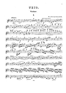 Piano Trio No.1 in C Minor, Op.24: parte do violino by Heinrich von Herzogenberg