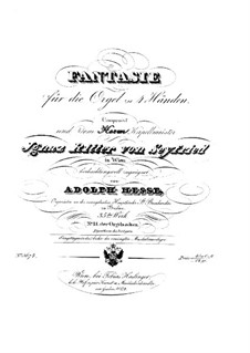 Fantasia for Organ Four Hands, Op.35: Fantasia for Organ Four Hands by Adolf Friedrich Hesse