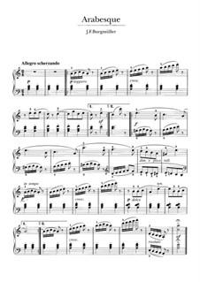 No.2 Arabesque: Para Piano by Johann Friedrich Burgmüller