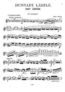 Hunyady László (Grand Fantasia): violino parte II by Károly Huber