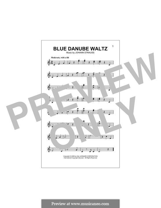 On the Beautiful Blue Danube, Op.314: melodia by Johann Strauss (Sohn)