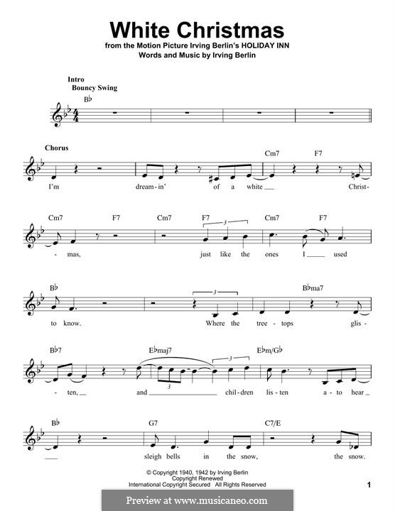 Piano-vocal version: melodia by Irving Berlin