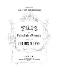 String Trio in G Minor, Op.69: parte do violino by Heinrich Julius Hopfe