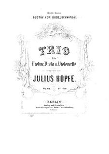 String Trio in G Minor, Op.69: parte viola by Heinrich Julius Hopfe