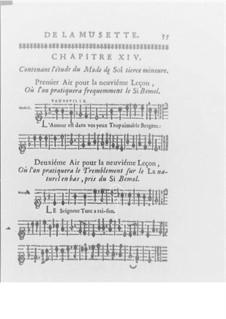 Méthode pour la Musette, Op.10: Chapters XIV-XVI by Jacques-Martin Hotteterre