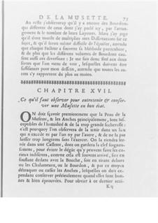 Méthode pour la Musette, Op.10: Chapter XVII by Jacques-Martin Hotteterre