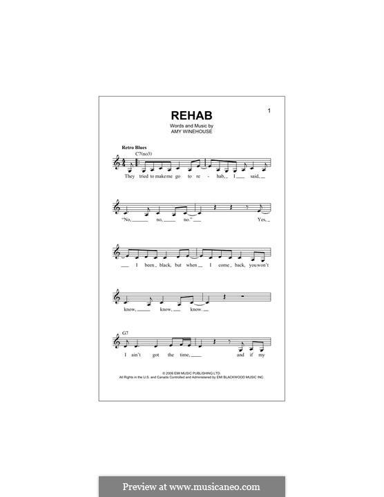 Rehab: melodia by Amy Winehouse