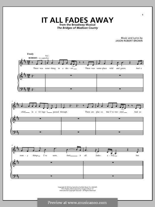 It All Fades Away: Para vocais e piano by Jason Robert Brown