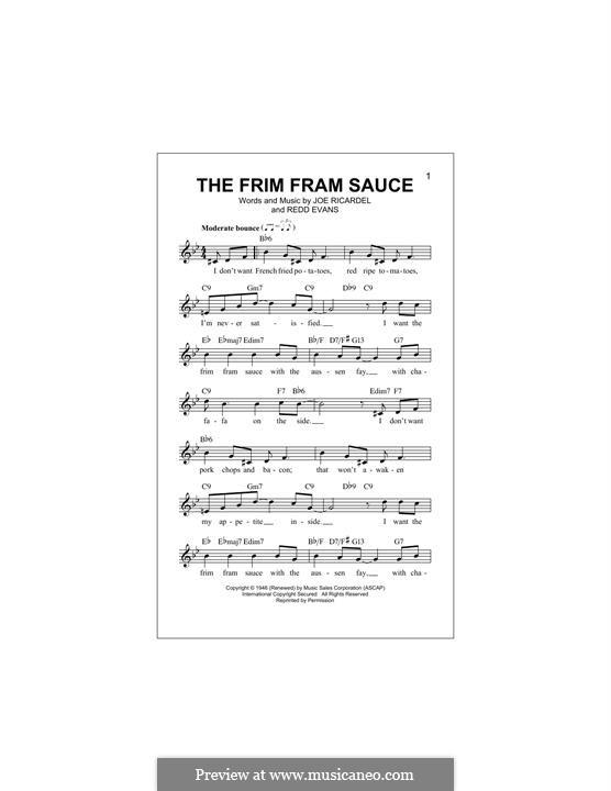 The Frim Fram Sauce: melodia by Joe Ricardel