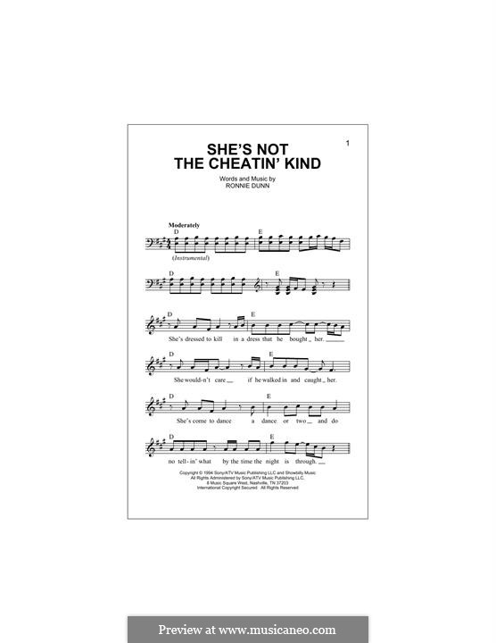 She's Not the Cheatin' Kind (Brooks & Dunn): melodia by Ronnie Dunn