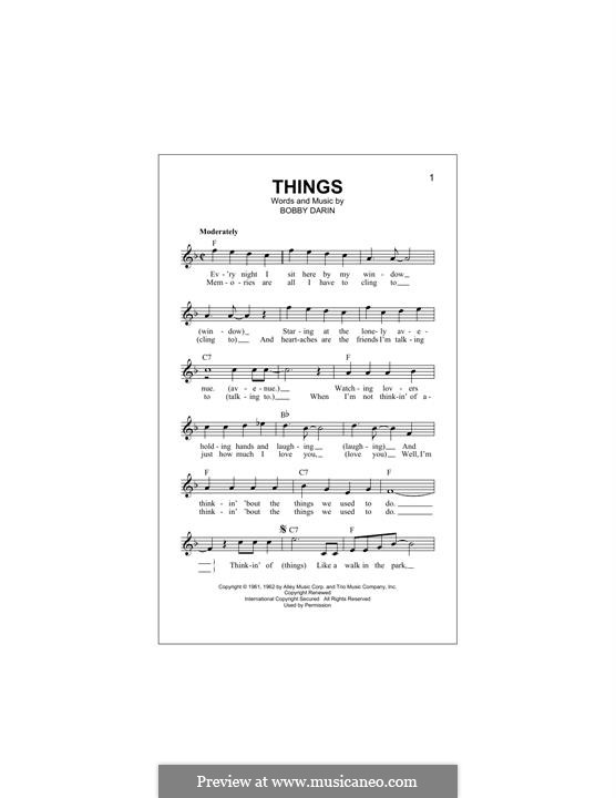 Things: melodia by Bobby Darin